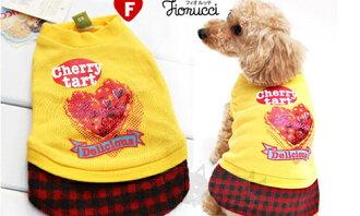 【日本FIORUCCI】寵物水鑽蛋糕連身洋裝-黃色