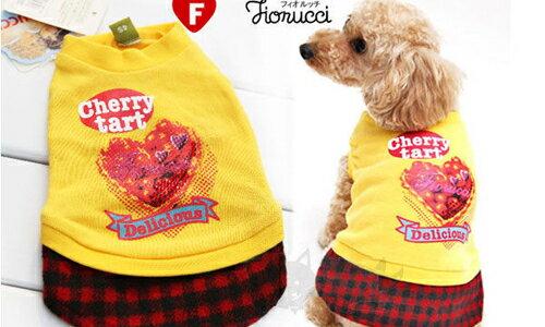 ayumi愛犬生活-寵物精品館:【日本FIORUCCI】寵物水鑽蛋糕連身洋裝-黃色