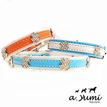 ayumi愛犬生活-寵物精品館:AYUMI精選-寵物項圈-水鑽雙色寵物項圈拉繩-3色-M
