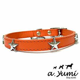 ayumi愛犬生活-寵物精品館:Ayumi精選-牛仔風星星寵物牛皮項圈-2色(XL)