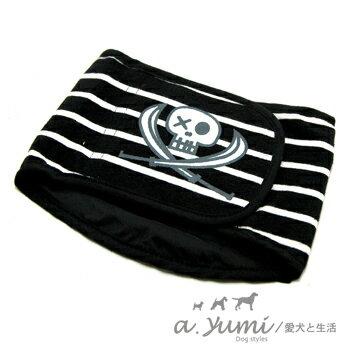 ayumi精選-寵物專用禮貌帶-海盜款-黑