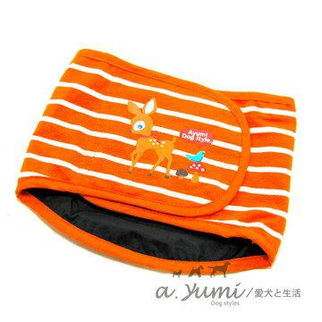 ayumi精選-寵物專用禮貌帶-故事小鹿禮貌帶-橘邊