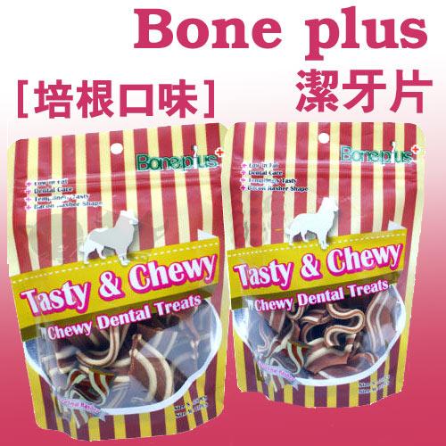 ayumi愛犬生活-寵物精品館:《英國BONEPLUS》香Q培根造型潔牙片大袋裝(SM)