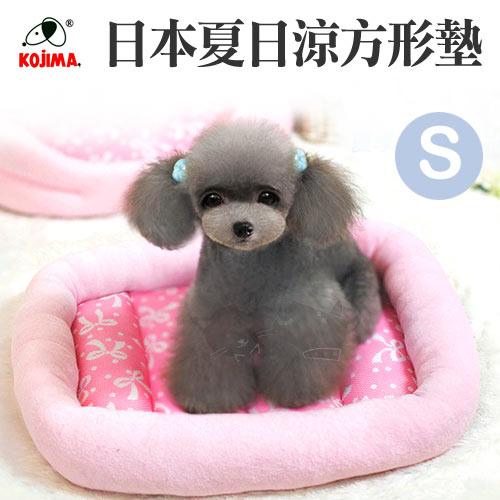 【日本夏日涼床】粉嫩涼夏寵物透氣方形涼床墊 - S號粉色 / 涼感瞬間降溫 / 纖維涼感