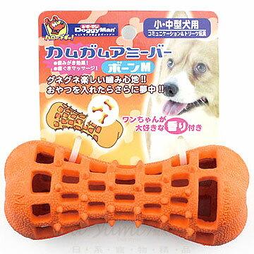 《日本DoggyMan》抗憂鬱玩具-愛犬益智乳膠玩具球-橘洞洞M