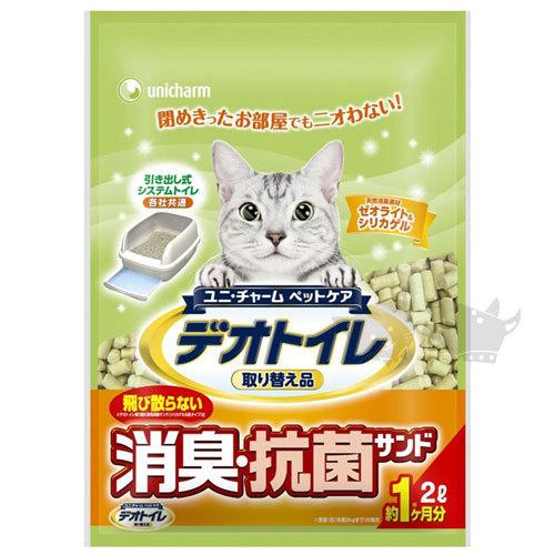 《日本Unicharm 嬌聯》消臭抗菌貓砂 - 條砂2L