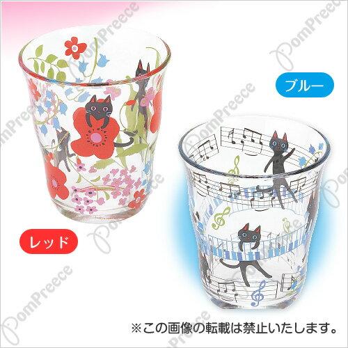 《日本PomPreece》俏麗造型貓咪玻璃水杯 5418 - 2色【日本製】