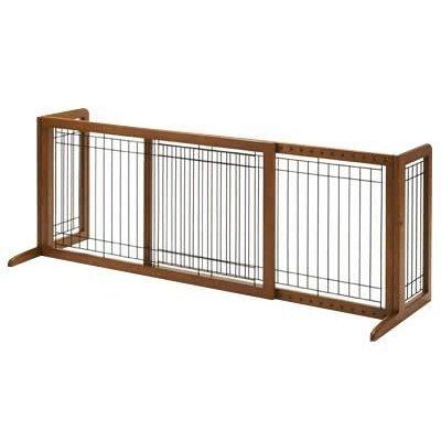 <br/><br/>  《日本RICHELL》移動式木製圍欄片門擋加長M-小型犬<br/><br/>