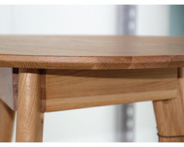 【YUDA】北歐風 實木 丹佛白橡木圓形咖啡桌 邊桌 茶几 W TB-030 簡易DIY