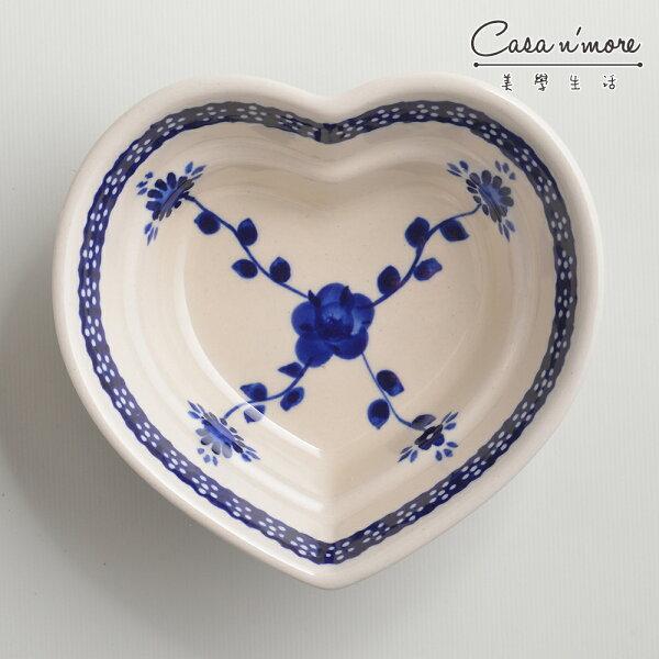 波蘭陶歐式青花系列愛心造型烤盤烘焙盤蛋糕盤水果盤點心盤波蘭手工製
