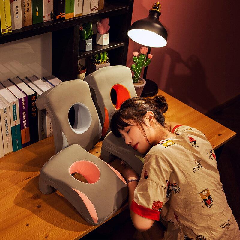 夏季冰絲午睡枕趴著睡辦公室趴睡枕頭學生桌上教室午休神器趴趴枕【免運】