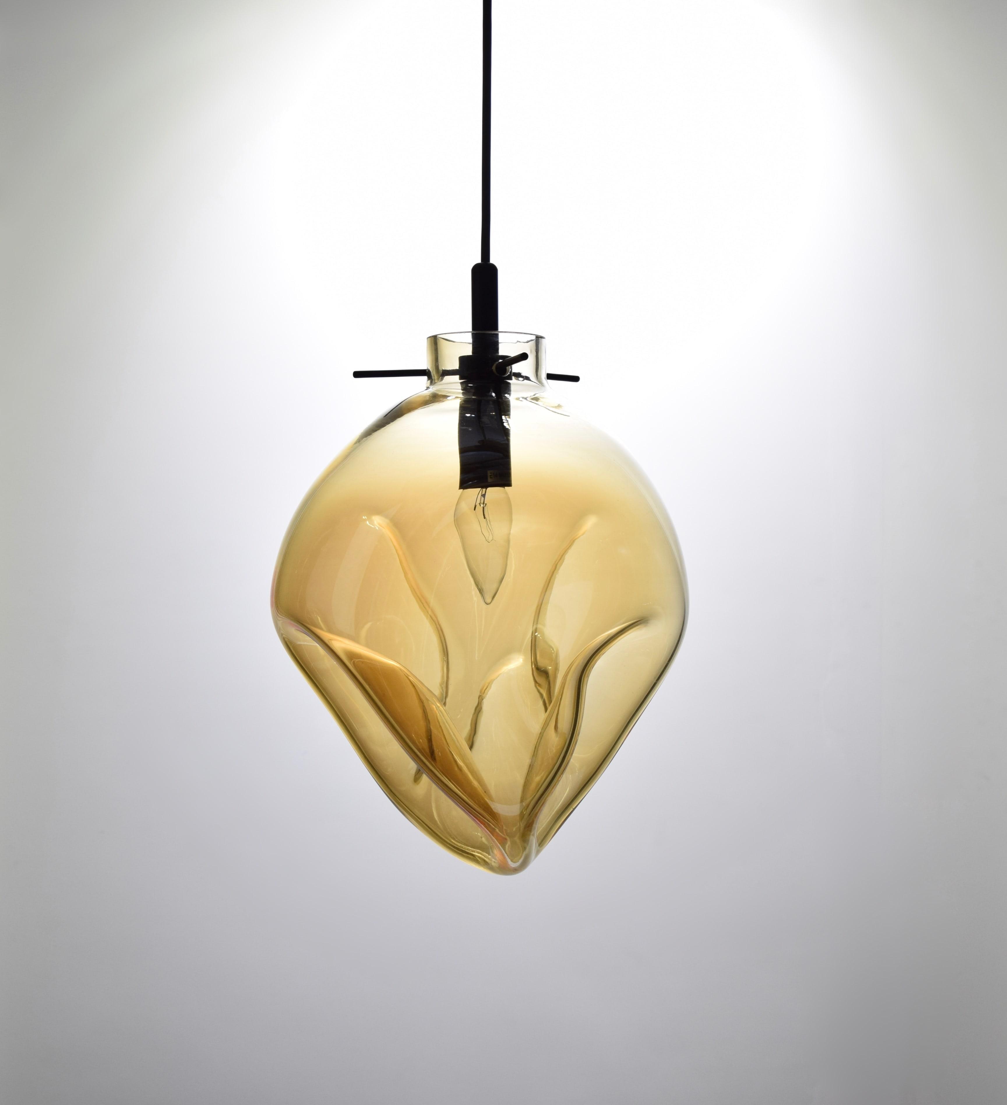 手工吹製琥珀色玻璃吊燈-BNL00114 0