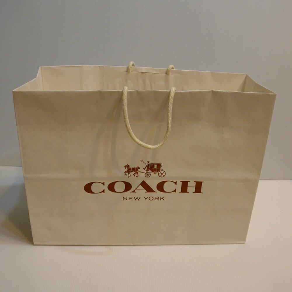 COACH中紙提袋--白