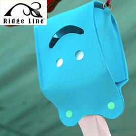 【【蘋果戶外】】Ridge Line OT867277YE 韓國 彩色微笑面紙盒 天藍 放置便利/可做吊飾物