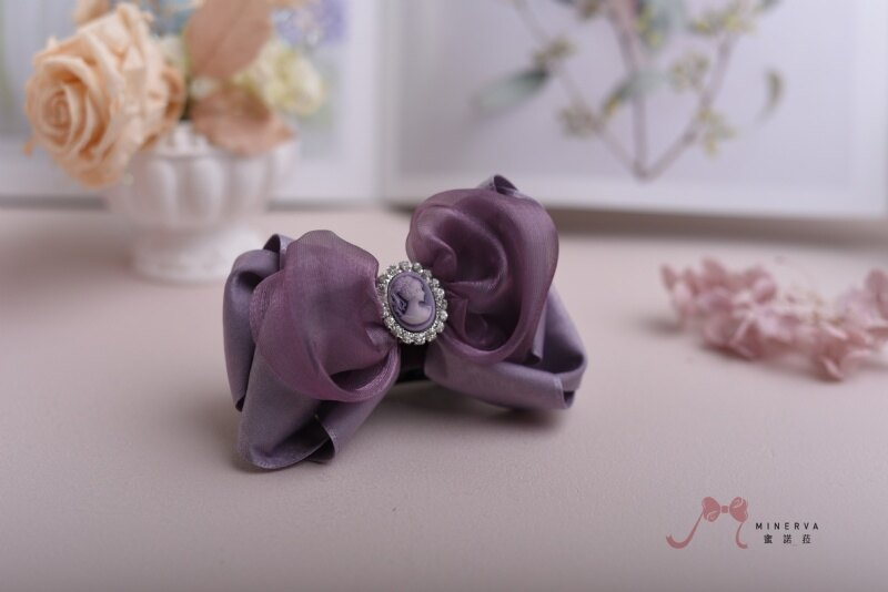 【Minerva】紫羅蘭 色調浪漫 美女 髪飾 香蕉夾