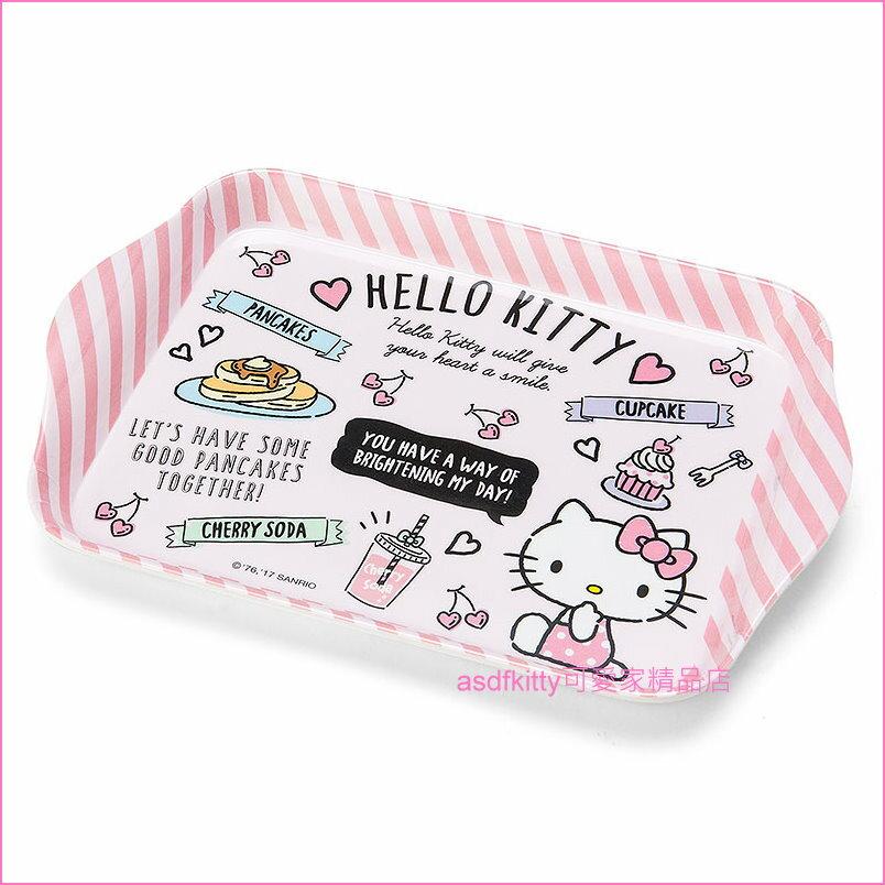 asdfkitty可愛家☆KITTY粉色甜點長方型置物盤/托盤/點心盤/水果盤-日本正版商品