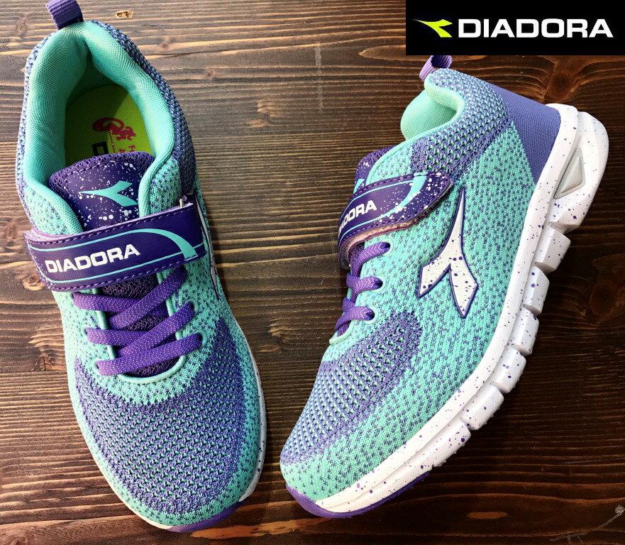 【剪標品出清-23號】義大利國寶鞋-DIADORA迪亞多納 /童款編織輕量運動慢跑鞋