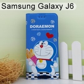 哆啦A夢皮套[麵包]SamsungGalaxyJ6(5.6吋)小叮噹【正版授權】