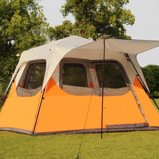 Mycolor:♚MYCOLOR♚伸縮式自動大帳篷5-7人戶外裝備雙人野營快速旅行家庭海邊草地【I11】