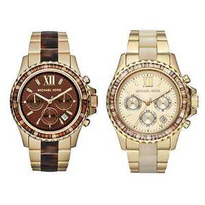 美國Outlet正品代購 MichaelKors MK 精鋼 水鑽  陶瓷  三環 手錶 腕錶 MK5874 1