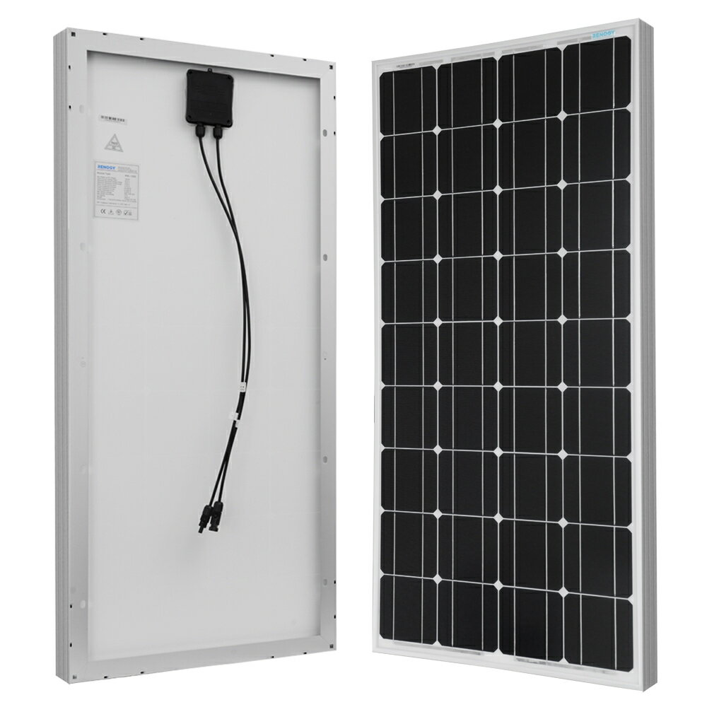 Renogy 100 Watt 12 Volt Off Grid Solar Premium Kit with Monocrystalline Solar Panel and 20A MPPT Rover Controller 1