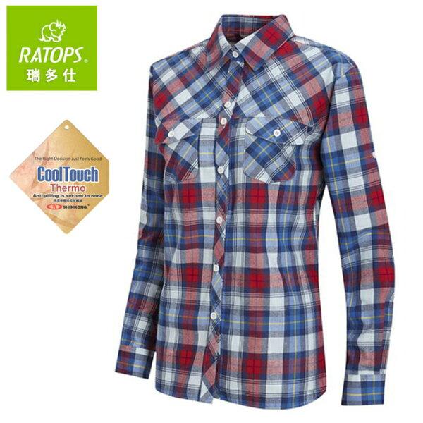 【Ratops瑞多仕台灣】保暖格子襯衫休閒襯衫女款紅藍黃格(DA-2425)