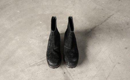 FINDSENSE服飾:FINDSENSEMD日系高品質時尚潮複古做舊高幫低跟休閒鞋短靴