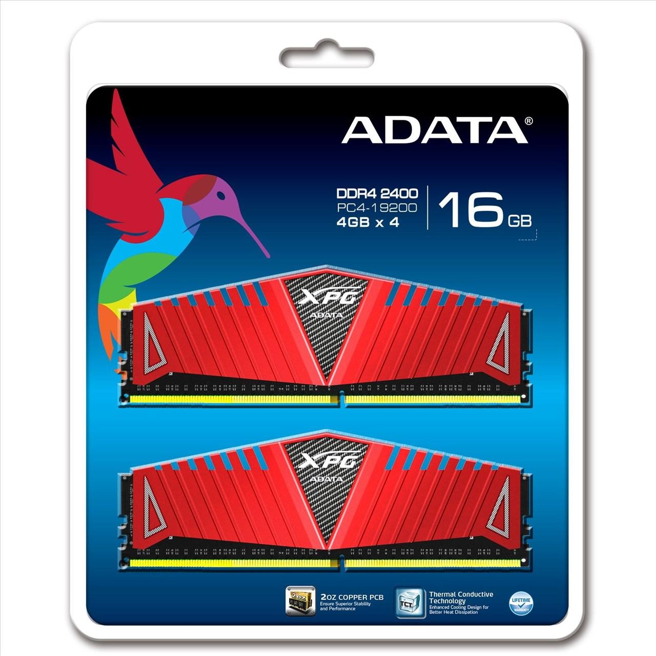 【新風尚潮流】威剛 XPG Z1 超頻 16GB DDR4-2400 四通道 AX4U2400W4G16-QRZ