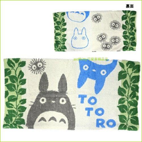 asdfkitty可愛家☆TOTORO龍貓小煤炭枕頭套-34*64公分-毛巾布材質-日本正版商品