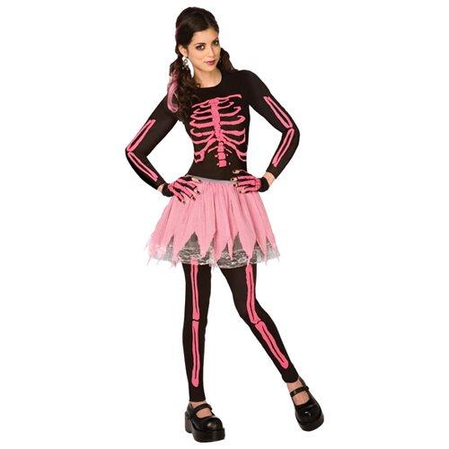 Pink Punk Skeleton Adult Halloween Costume 0