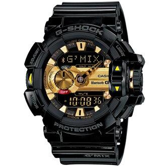 CASIO G-SHOCK GBA-400-1A9藍芽黑金流行時尚腕錶/52mm