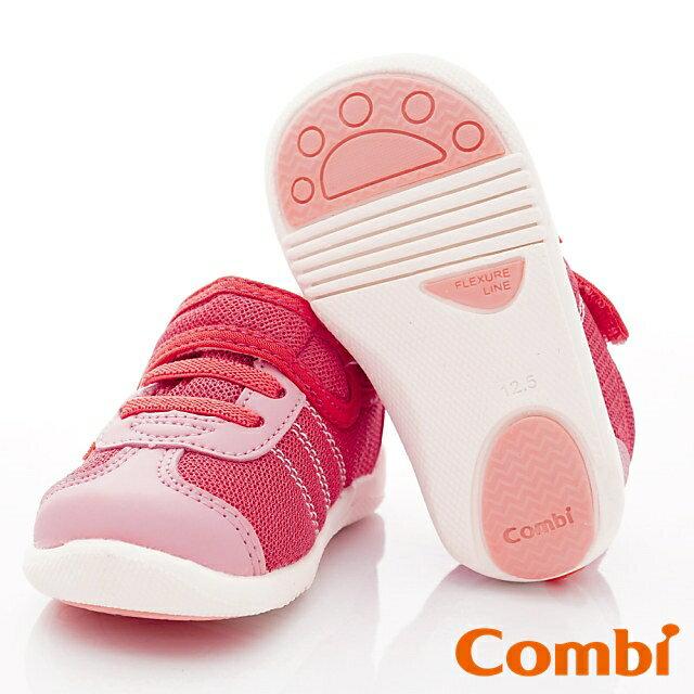 日本Combi童鞋 時尚紐約幼兒機能休閒鞋-魔力紅(加贈鞋墊)寶寶段 7