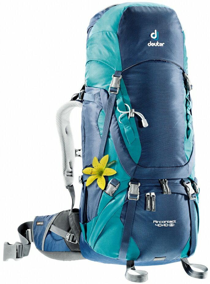 【露營趣】中和 Deuter 3320016 Aircontact 40+10SL拔熱式透氣背包 登山背包 自助旅行背包
