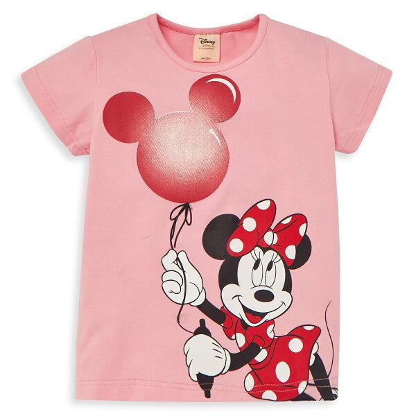 Disney米妮系列歡樂派對圓領上衣-熱情粉