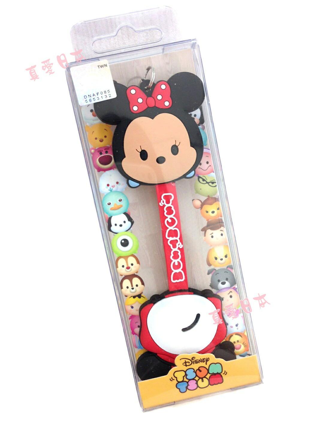 【真愛日本】16072200004吊飾捲線器--米妮  迪士尼 米老鼠米奇 米妮  耳機集線器 收線器 正品
