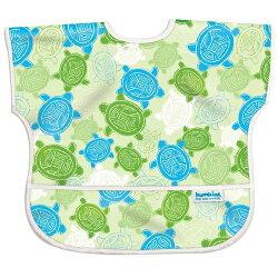 【淘氣寶寶】【美國Bumkins】兒童(1-3歲)短袖防水圍兜-小烏龜 BKU-913【保證公司貨】