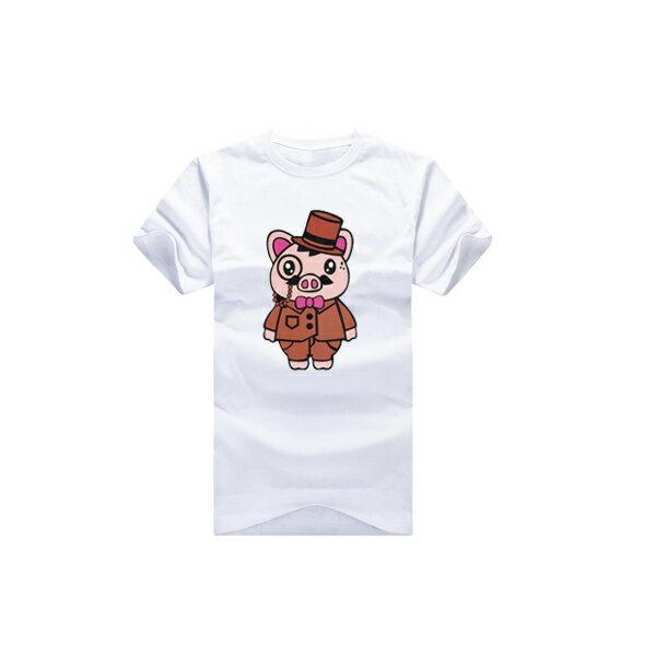 T恤 親子裝 全家福  可客製化 MIT台灣製純棉短T 班服◆快速出貨◆獨家配對情侶裝.粉紅小豬夫妻【YC282】可單買.艾咪E舖 3