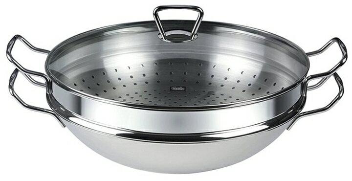 Fissler 南京中華炒鍋 35cm含玻璃蓋、蒸籠