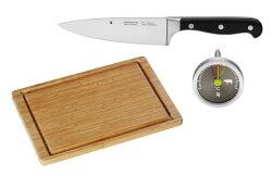 【德國WMF牛排料理套組】 廚刀、溫度計、砧板一次擁有的美食家套組