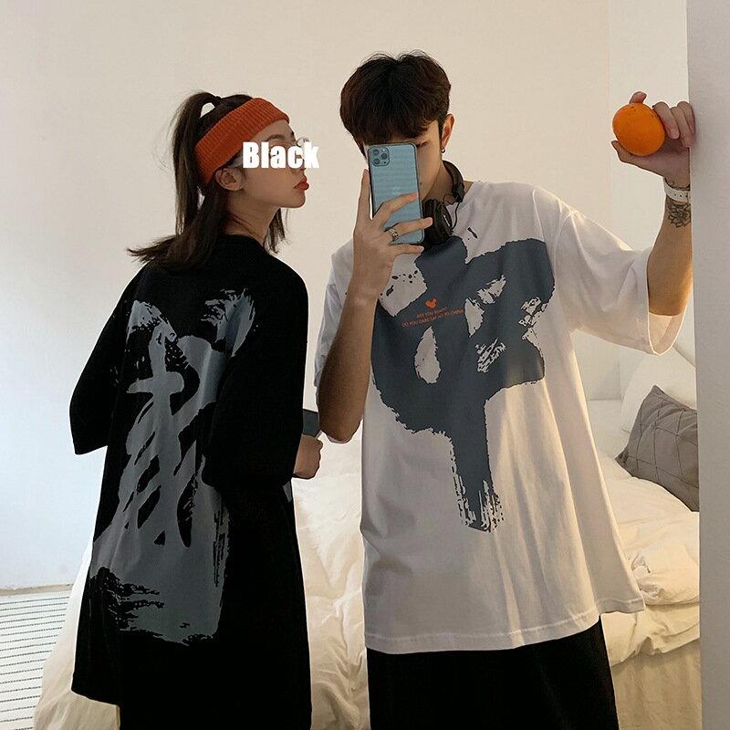 國潮短袖男潮牌t恤夏季寬鬆中國風印花潮流嘻哈上衣潮牌帥氣半袖
