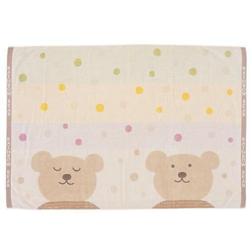 日本製彩虹熊毛巾無燃系浴巾毛巾被825803代購
