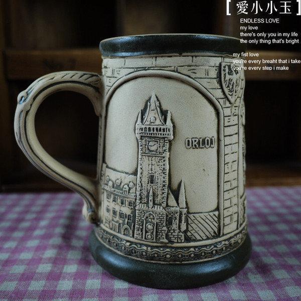 【啤酒杯 泰恩教堂-磨砂款】陶瓷馬克杯 創意可愛