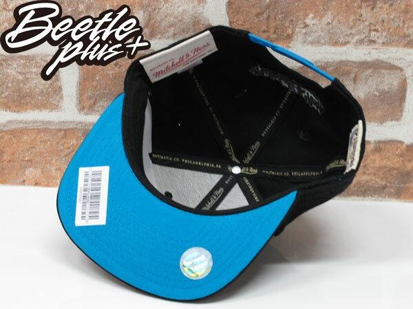 BEETLE MITCHELL&NESS SNAPBACK 聖安東尼奧 馬刺 黑藍 文字 LOGO 螢光 後扣棒球帽 MN-353 2