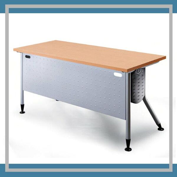 『商款熱銷款』【辦公家具】KRS-106WH銀桌腳+白櫸木桌板辦公桌書桌桌子
