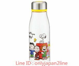 【真愛日本】17022000014塑膠冷水壺-SN與朋友黃   史努比 SNOOPY    隨手壺 冷水壺
