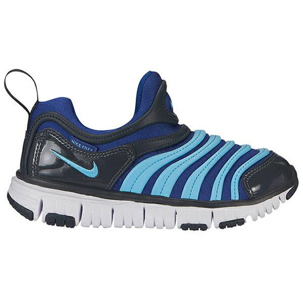 Shoestw【343738-428】NIKE DYNAMO FREE 童鞋 毛毛蟲 中童鞋 藍灰水藍 可凹折 0