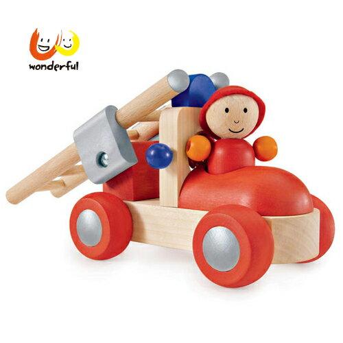 【獨家下殺88折】Selecta木製幼兒消防車【寶貝樂園】