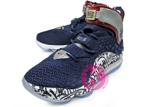 2020 NBA 最新款 LeBRON JAMES 最新代言 NIKE LEBRON XVII FP EP LBJ 17 GRAFFITI 4 WATCH 深藍白 塗鴉 全新 KNITPOSITE 飛織鞋面 前 15mm ZOOM MAX AIR 後 MAX AIR 氣墊 小皇帝 雷霸龍 KING LAKERS 頂級科技 籃球鞋 (CT6052-400) 0720 1