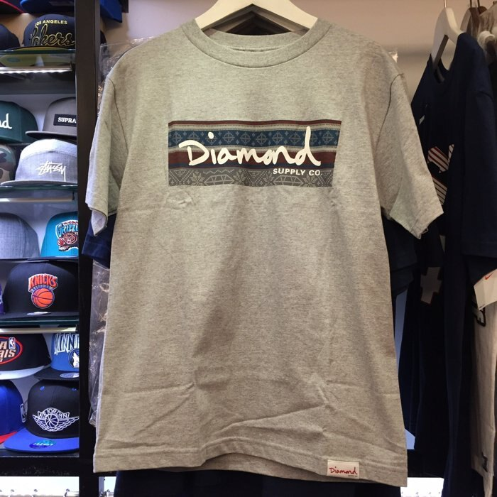BEETLE PLUS 西門町 全新 DIAMOND SUPPLY CO BOX LOGO 民族風 灰 TEE D14DPA07HEA DA-20 - 限時優惠好康折扣