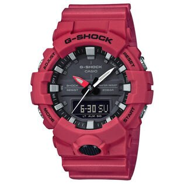 CASIOG-SHOCKGA-800-4A3D立體刻度創新雙顯流行腕錶紅